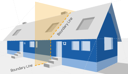 Party Wall illustration for St Ives Surveyors